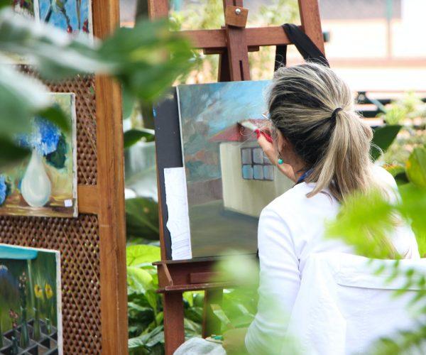 pitturare in natura